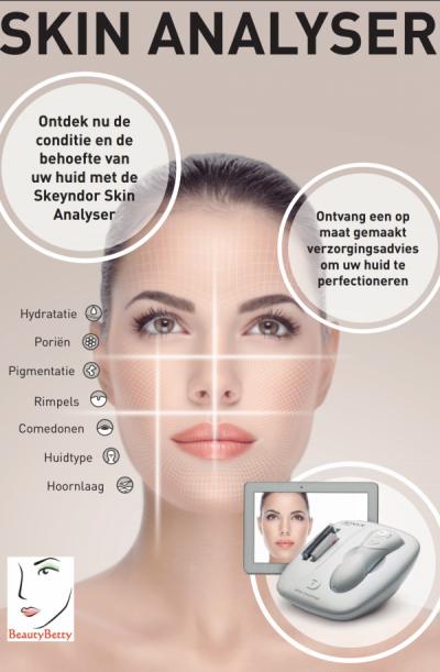 huidanalyse met Skin Analyser bij schoonheidsspecialiste beautysalon Beauty Betty Delft